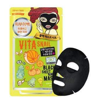 Dewytree Mask sheet [Dewytree] Vita Snail Black Mask (1Box-10PCS)
