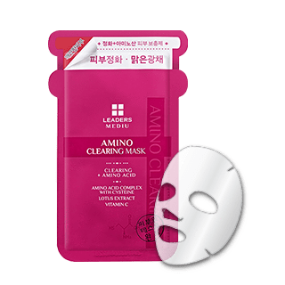 Leaders Mask sheet [Leaders] Mediu Amino Clearing Mask (1Box-10PCS)