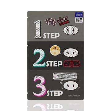 MASK38 [Holika Holika] Pig Clear Black Head 3-Step Kit Strong (5PCS)