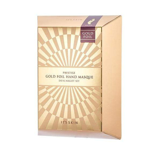 MASK38 [It's Skin] PRESTIGE Gold Foil Hand Masque D'escargot (5 Pairs)