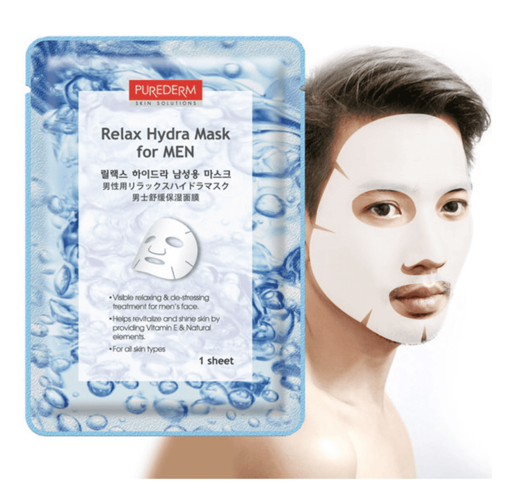 MASK38 Mask sheet [PUREDERM] Relax Hydra Mask For Men (10 PCS)