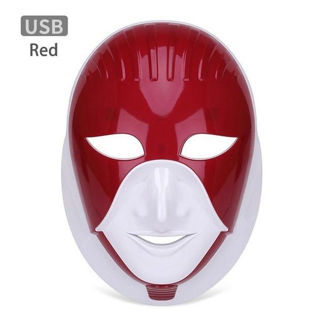 MASK38 [MASK38] 7 Colors Light LED Facial Mask With Neck Skin Rejuvenation Face Care Treatment Beauty Anti Acne Therapy Whitening Skin Home Use