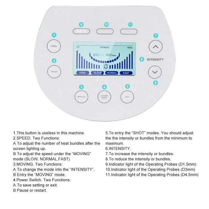 MASK38 [MASK38] High Intensity Heat Bundles Beauty Machine For Wrinkle Removal Face Lifting Anti Aging Skin Tightening