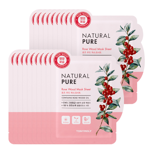 MASK38 [TONYMOLY] Rose Wood Natural Pure Mask 20EA