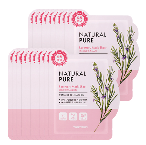 MASK38 [TONYMOLY] Rosemary Natural Pure Mask 20EA