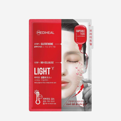 MEDIHEAL Mask sheet [Mediheal] Capsule 100 Bio Seconderm -Light (10PCS)