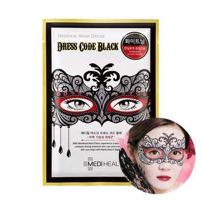 MEDIHEAL Mask sheet [Mediheal] Mask Dress Code BLACK (1Box-10PCS)