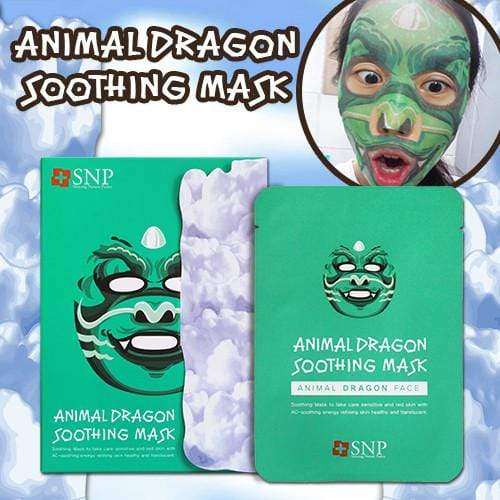 SNP Mask sheet [SNP] ANIMAL DRAGON SOOTHING MASK (1BOX-10PCS)