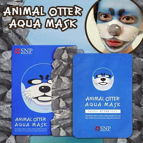 SNP Mask sheet [SNP] ANIMAL OTTER AQUA MASK (1BOX-10PCS)