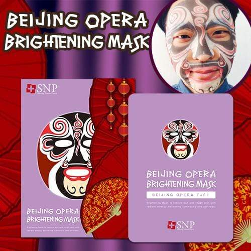 SNP Mask sheet [SNP] BEIJING OPERA BRIGHTENING MASK (1BOX-10PCS)