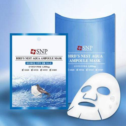 SNP Mask sheet [SNP] BIRD'S NEST AQUA Ampoule Mask (1BOX-10PCS)