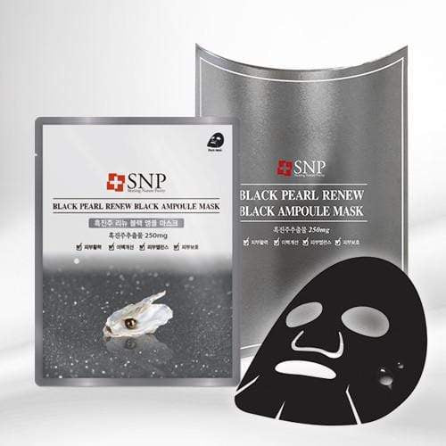 SNP Mask sheet [SNP] BLACK PEARL RENEW BLACK Ampoule Mask (1BOX-10PCS)