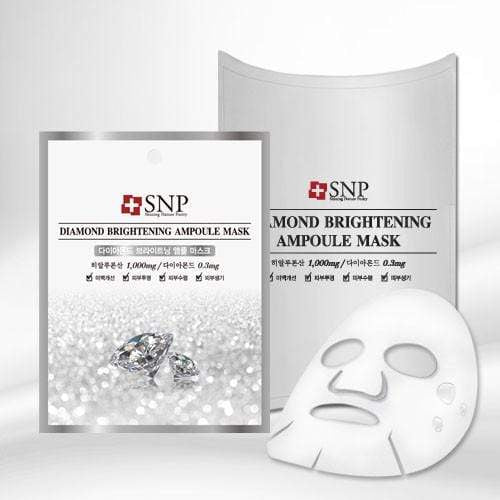 SNP Mask sheet [SNP] DIAMOND BRIGHTENING Ampoule Mask (1BOX-10PCS)