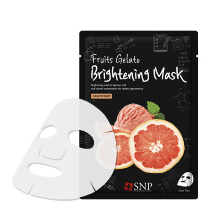 SNP Mask sheet [SNP] Fruits Gelato Soothing Mask (10 PCS)