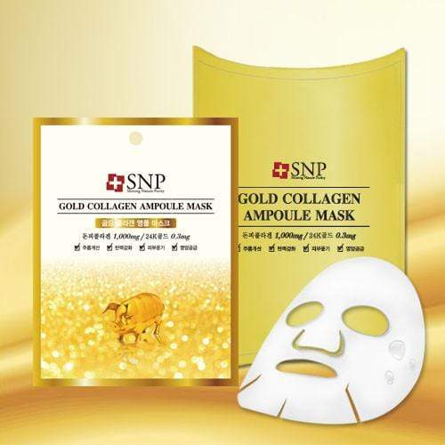 SNP Mask sheet [SNP] GOLD COLLAGEN Ampoule Mask (1BOX-10PCS)