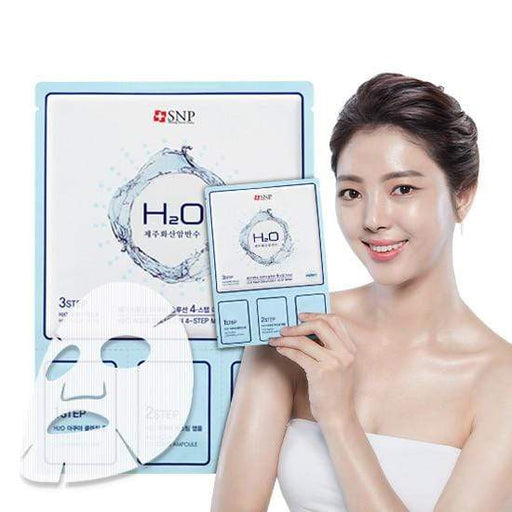 SNP Mask sheet [SNP] H2O Aqua Solution 4-Step Mask (1BOX-10PCS)