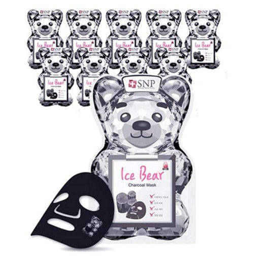 SNP Mask sheet [SNP] Ice Bear Charcoal Mask (10 PCS)