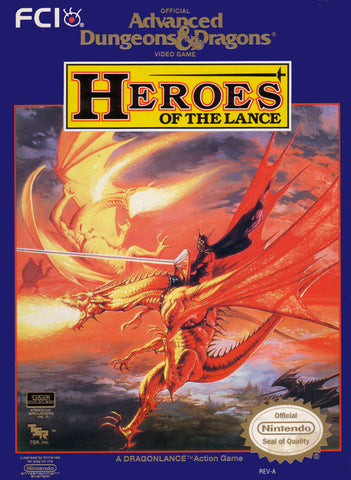 Advanced Dungeons and Dragons: Heroes of the Lance - NES