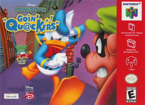 "Donald Duck Goin' ""Quackers"" - N64"