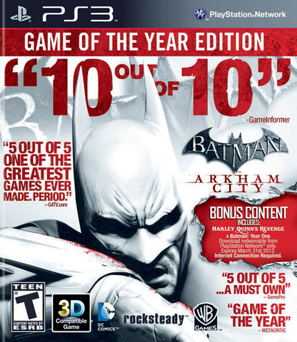 Batman Arkham City Game of the Year - Pre-Owned Playstation 3