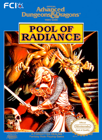 Advanced Dungeons and Dragons: Pool of Radiance - NES