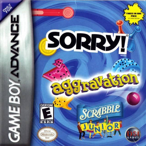 Aggravation - Scrabble Junior - Sorry - Gameboy Advance