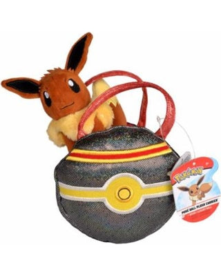 Pokemon Poke Ball Plush Carrier - Eevee & Luxury Ball