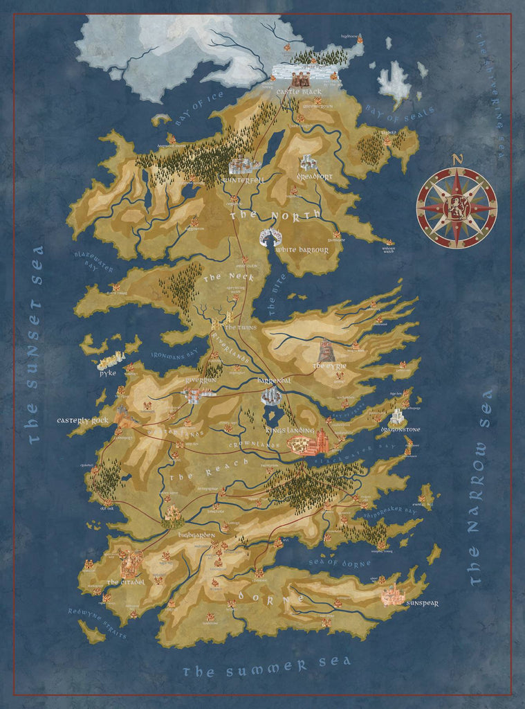 Game Of Thrones Puzzle Cerseis Westeros Map