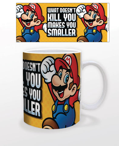 Coffee Mug 11 Oz - Super Mario Makes You Smaller