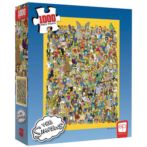 Simpsons: Cast of Thousands 1,000 Piece Puzzle