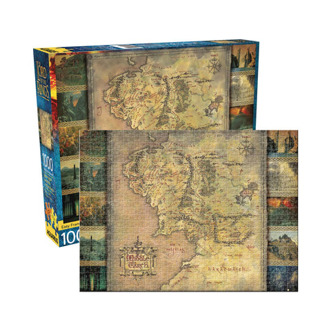 Aquarius Puzzle: Lord of the Rings Map 1000 Pieces