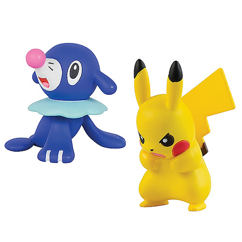 Pokemon Action Pose Figure - Popplio vs Pikachu