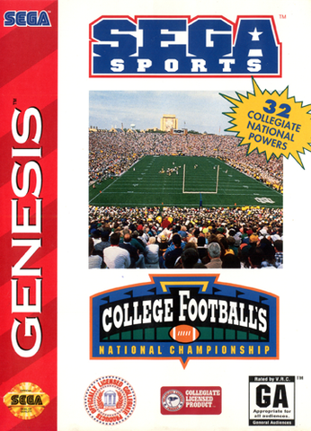 College Football's National Championship - Genesis