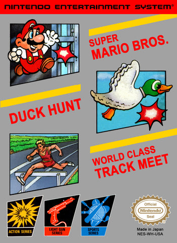 Super Mario Bros. - Duck Hunt - World Class Track Meet - NES