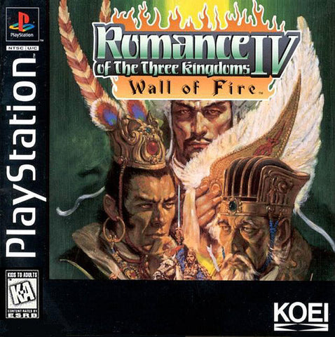 Romance of the Three Kingdoms IV Wall of Fire - Playstation
