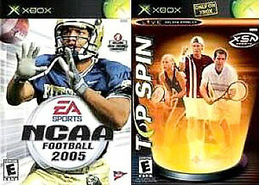 NCAA Football 05/ Top Spin - Xbox