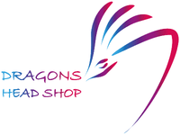 Dragons Head Shop Logo with Words