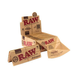 15 Raw Classic Artesano King Size Slim Rolling Papers + Tray&Tips-Dragons Head Shop