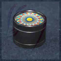 Dragons Head Shop Accessories Black Herb Grinder with Colourful top | Dragons Head Shop