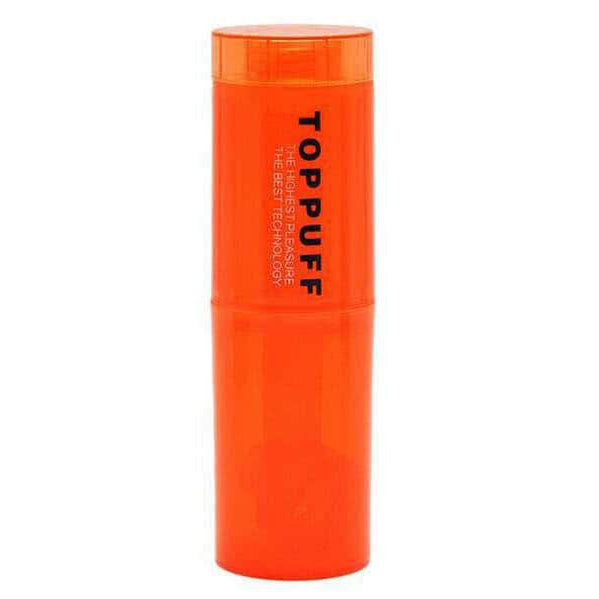 Top Puff Glass Adapter Orange Top Puff plastic acrylic portable water bottle converter with glass rig