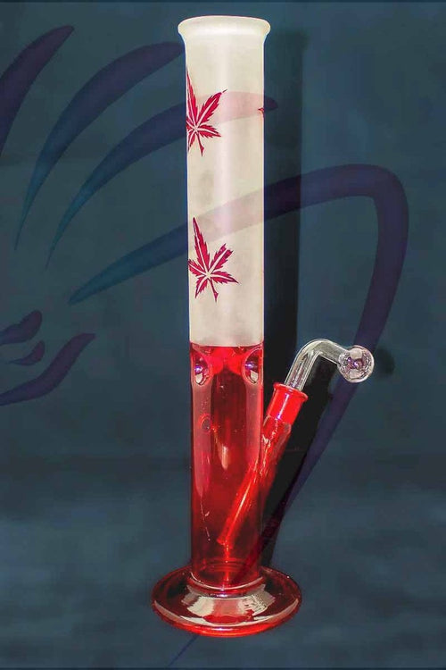 Dragons Head Shop Bongs Red Maple Leaf Bong