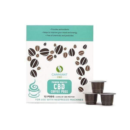 Canniant 30mg CBD Nespresso Coffee Pods - Pack of 12 - Dragons Head Shop