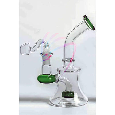 Dragons Head Shop Bongs Glass bubbler dab rigs green recycler glass rig bong handheld