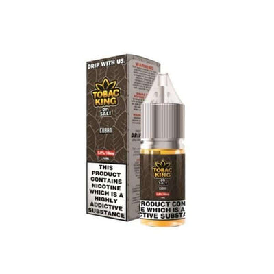 Drip More Vaping Products Cuban 10MG Tobac King On Salt 10ML Flavoured Nic Salt (50VG/50PG)