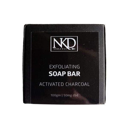 JCS Infusions CBD Products NKD 50mg CBD Activated Charcoal Soap Bar 100g