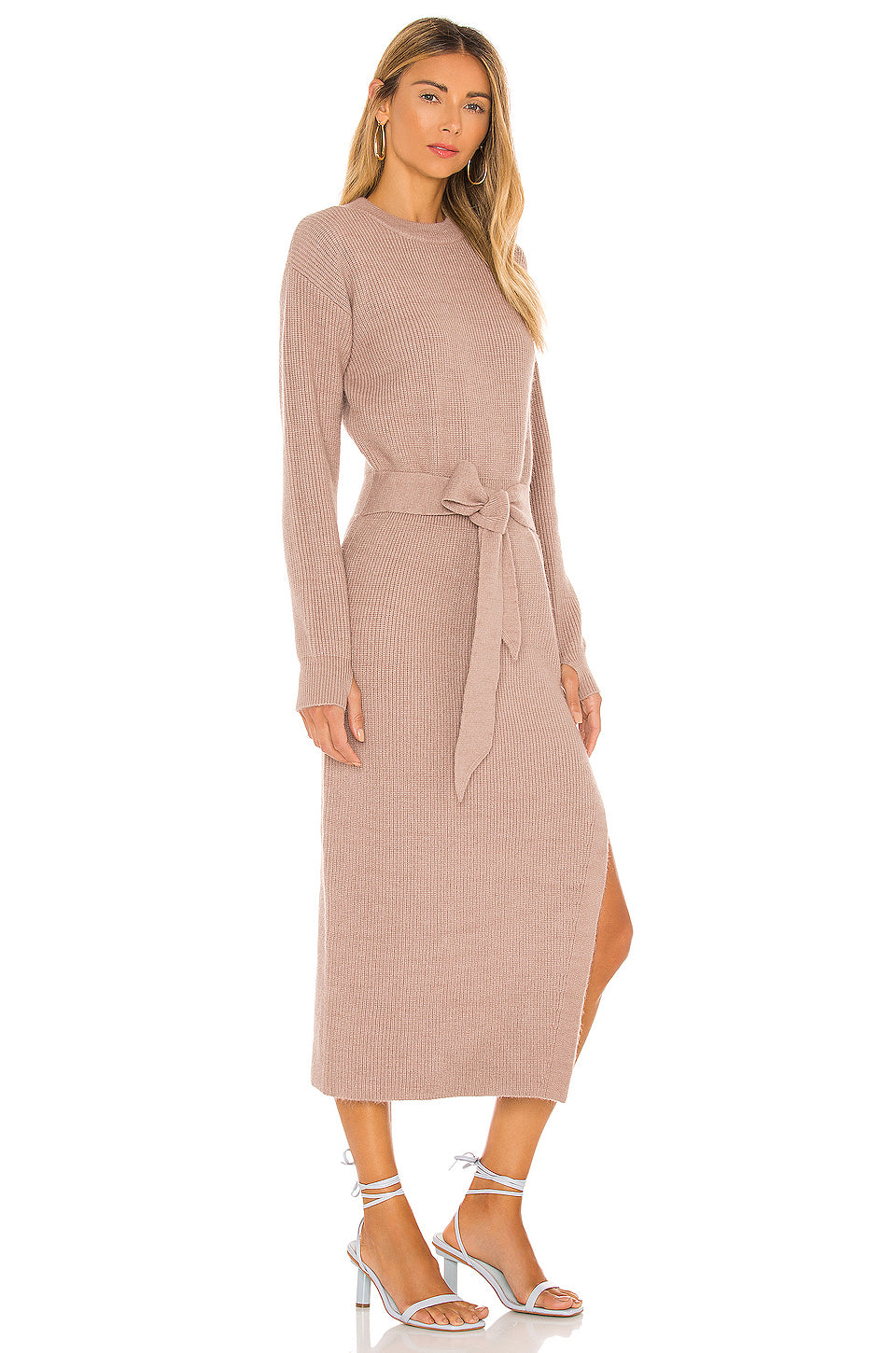Long Sleeve Ribbed Dress