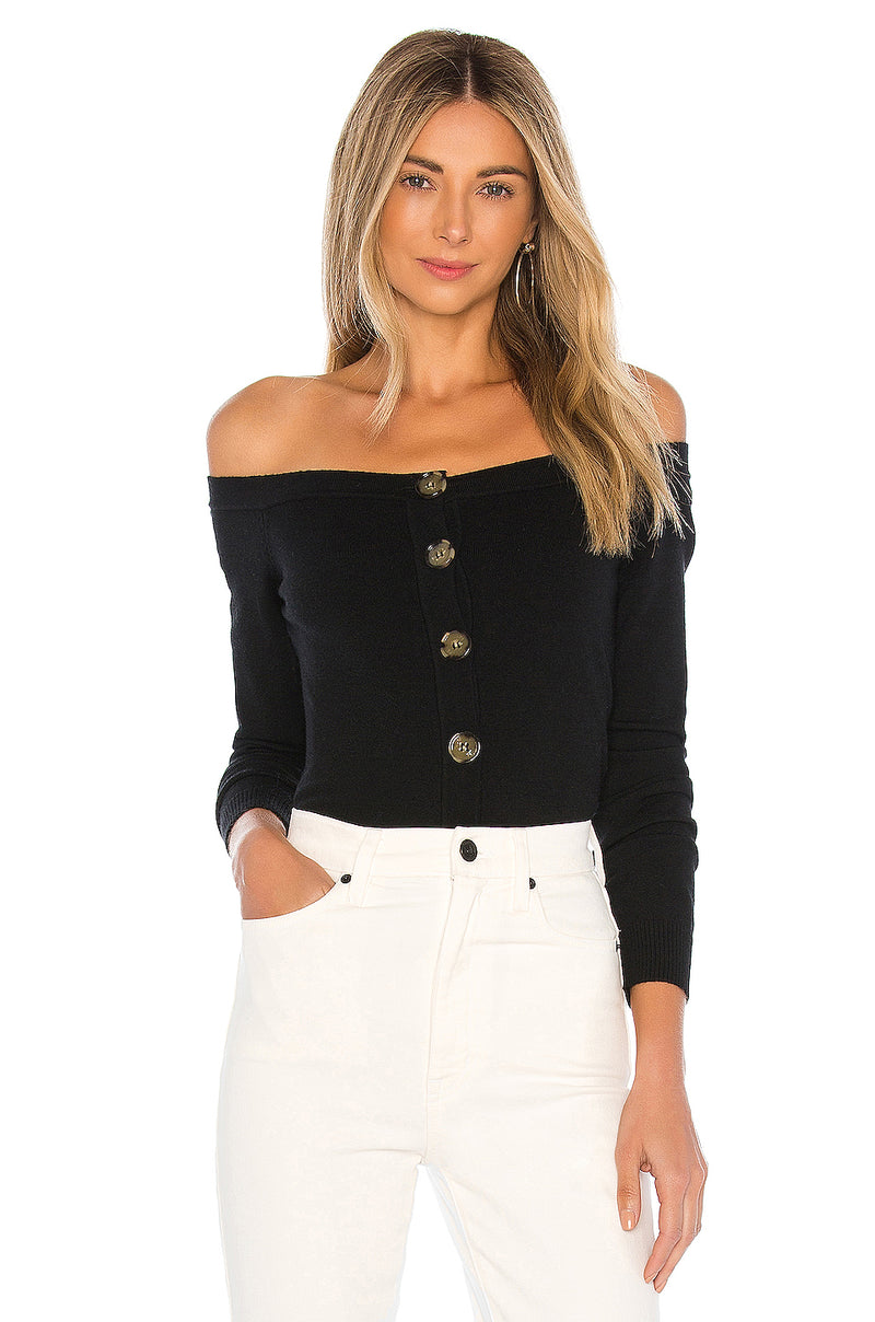 Peony Off Shoulder Sweater