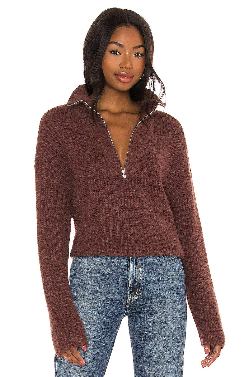 Lesley Half Zip Sweater