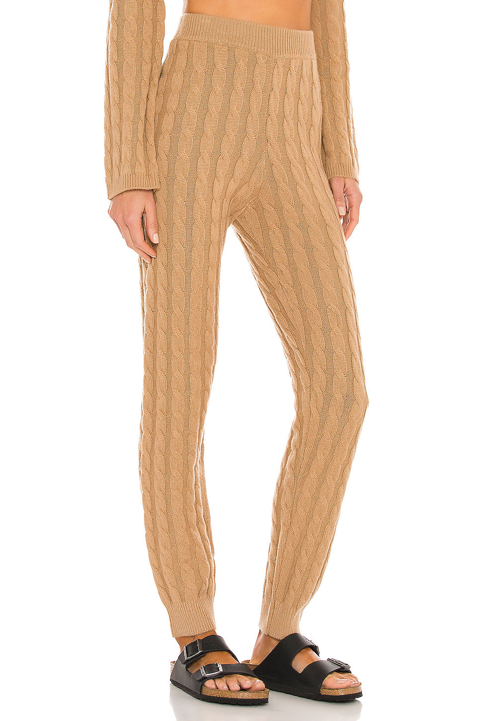 Cashmere Cable Knit Easy Pant