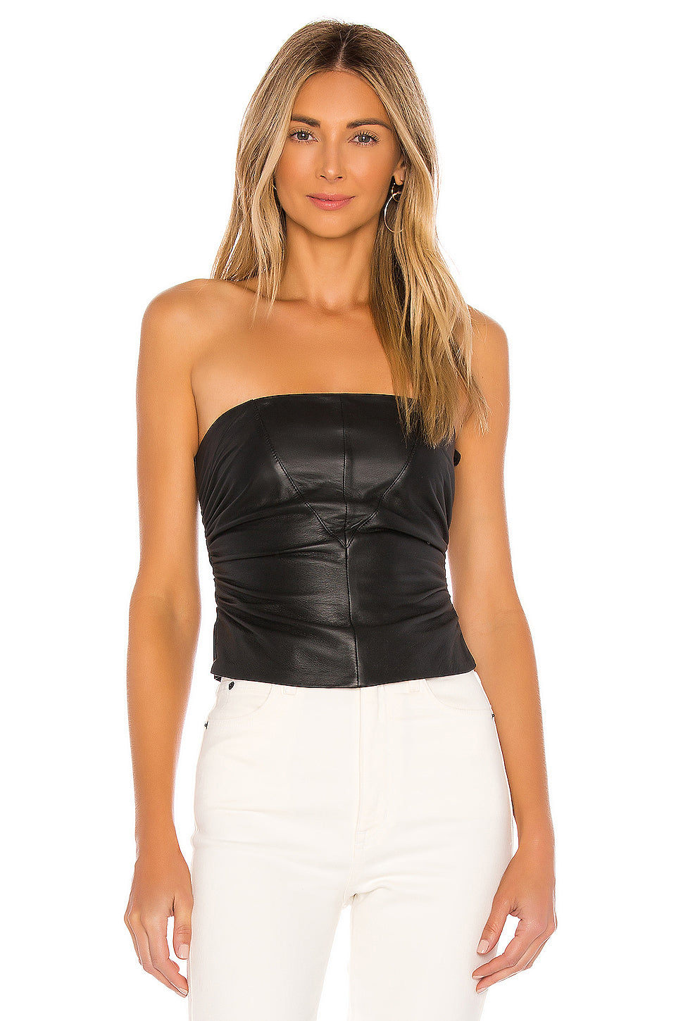 Bianca Leather Corset Top